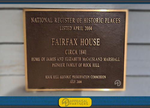 The Fairfax House in Rock Hill